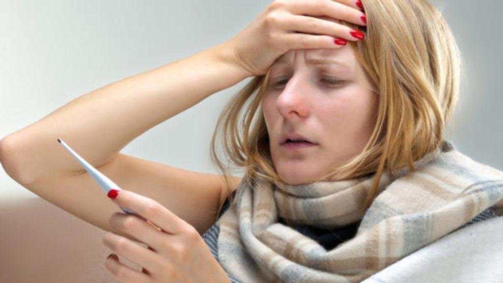 Повышение температуры при простуде