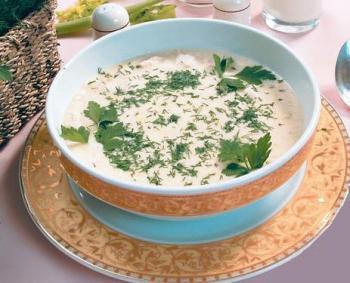 Суп-пюре из мяса и риса