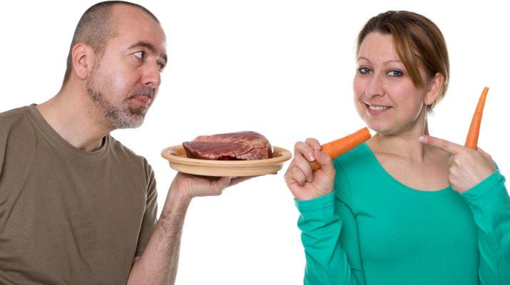 Один – вегетарианец, а второй – мясоед